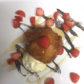 Gebackene Banane mit Honig und Vanille-Glacé, serviert mit frischen saisonalen Früchten und Schokoladen-Sauce.